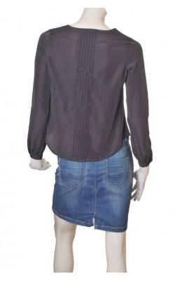 Bluza gri CUbus, panou plisat, marime 34