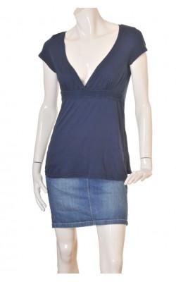 Bluza guler in V din bumbac H&M, marime 40