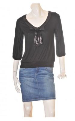 Bluza H&M, guler cu funda paiete, marime 38