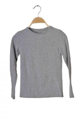Bluza jerseu gri bumbac organic Cubus, 9-10 ani