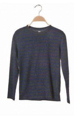 Bluza jerseu H&M, bumbac organic, 10-12 ani