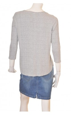 Bluza jerseu reiat gri Gina Tricot, marime XL