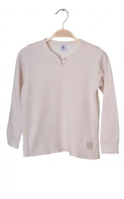 Bluza lana si bumbac Petit Bateau, 7-8 ani