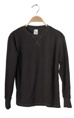 Bluza maro din bumbac H&M, 11-12 ani