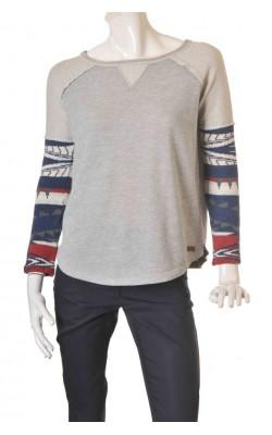 Bluza molton cu maneci tricot Northern Territories, marime M