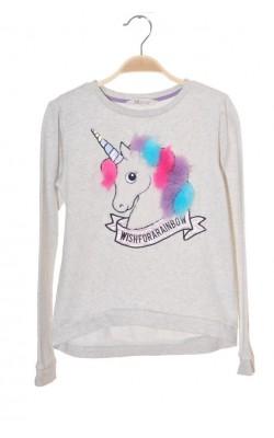 Bluza molton cu unicorn H&M, 10-12 ani