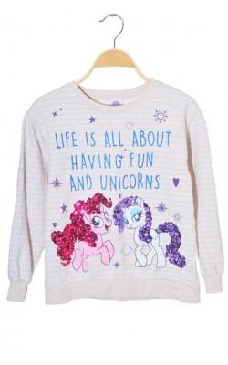 Bluza molton cu unicorni Next, My Little Pony, 9 ani