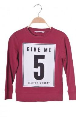 Bluza molton H&M, 6-8 ani