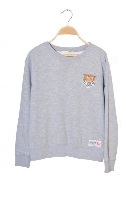 Bluza molton supradimensionata H&M, imprimeu tigru, marime XS