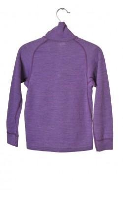 Bluza mov lana merinos Devold, 8 ani