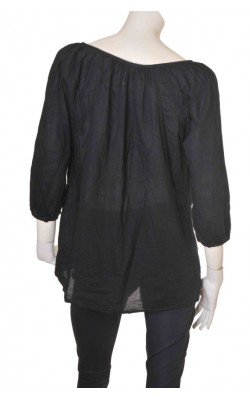 Bluza neagra cu broderie Wallis, marime 48