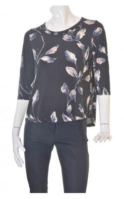 Bluza neagra cu flori Lindex, marime L