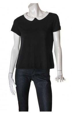 Bluza neagra cu guler alb H&M, marime M