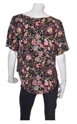 Bluza neagra cu imprimeu floral H&M, marime 44