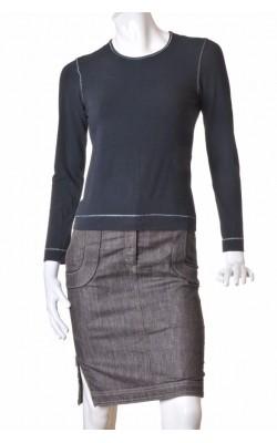 Bluza neagra cusaturi fir metalic Share, marime 36/38