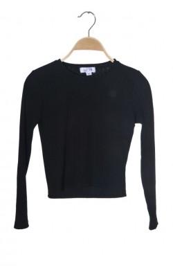 Bluza neagra jerseu reiat Wow, 11-12 ani