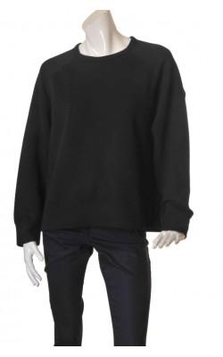 Bluza neagra molton H&M L.o.g.g., marime XL