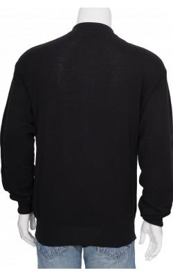 Bluza neagra Ralph Lauren, bumbac si casmir, marime L
