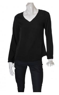 Bluza neagra satin Va Vite, marime M