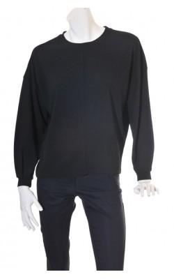 Bluza neagra supradimensionata Fransa, maneci bufante, marime 42