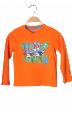 Bluza oranj cu imprimeu Lupilu, 5-6 ani