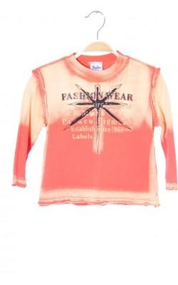 Bluza oranj cu imprimeu Pacino, 5-6 ani