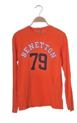 Bluza oranj cu imprimeu United Colors of Benetton, 11-12 ani