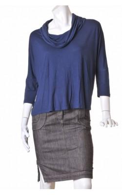 Bluza oversized jerse bleumarin Kappahl, marime L