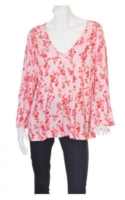 Bluza print floral H&M, maneca tip clopot, marime 48