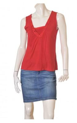 Bluza rosie cu guler brodat Dna Copenhagen, marime M