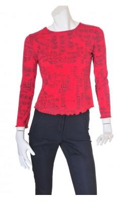 Bluza rosie cu imprimeu Victoria, marime 38