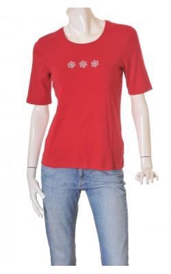 Bluza rosie cu stelute Hanna, marime M