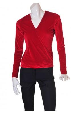 Bluza rosie din catifea Nelly Trend, marime 36/38