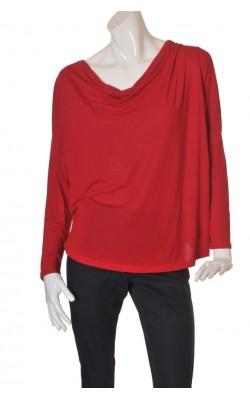Bluza rosie guler drapat Lindex, modal, marime XL