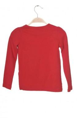 Bluza rosie Lindex, umeri usor bufanti, bumbac organic, 6 ani