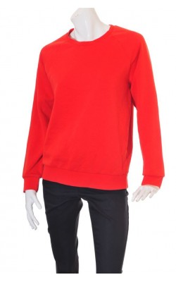 Bluza rosie molton Weekday, croi supradimensionat, marime M