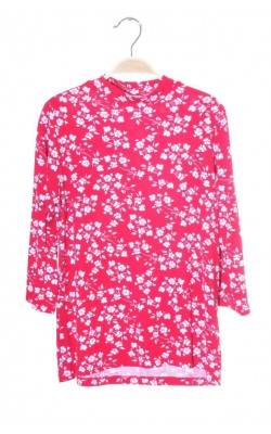Bluza rosie print floral Cubus, marime S