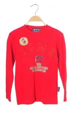 Bluza rosie Rams, bumbac, 10 ani