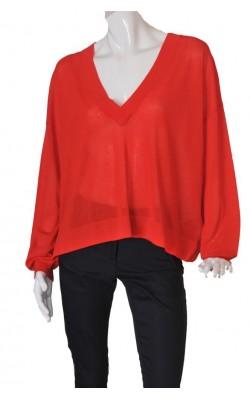 Bluza rosie supradimensionata H&M, marime L