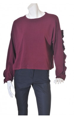 Bluza rosu bordeaux Bershka, mairme L