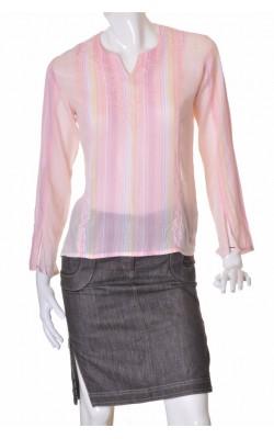 Bluza roz cu broderie si margele Lifetime, marime 40