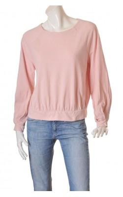 Bluza roz pal din bumbac texturat Lindex, marime M