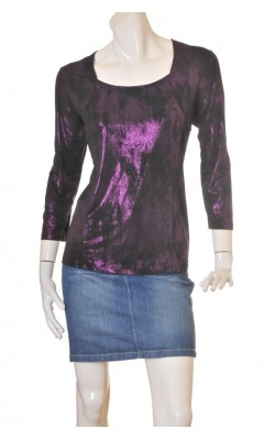 Bluza satin stretch Celina Exclusive, dark plum, marime 48/50