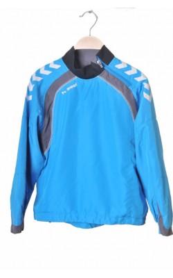 Bluza sport Hummel, fas bleu cu gri, 10 ani