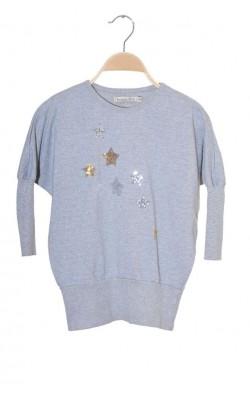 Bluza supradimensionata molton BombiBitt, 5-6 ani