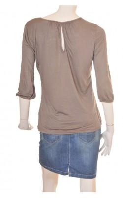 Bluza taupe H&M, jerse fin, marime M