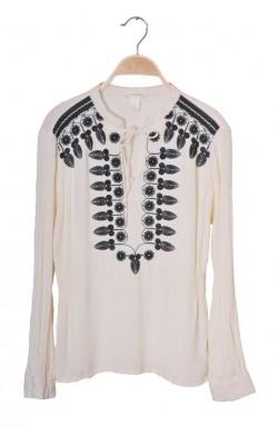 Bluza tip ie H&M, panza topita brodata, marime 36