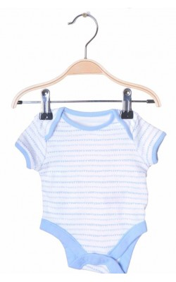 Body alb cu bleu F&F, 0-1 luni, 4.5 kg