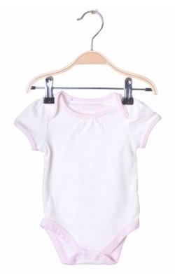 Body alb cu roz Tu, 0-3 luni