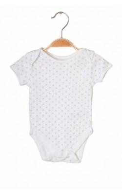 Body alb cu stelute George, 3-6 luni, 8 kg